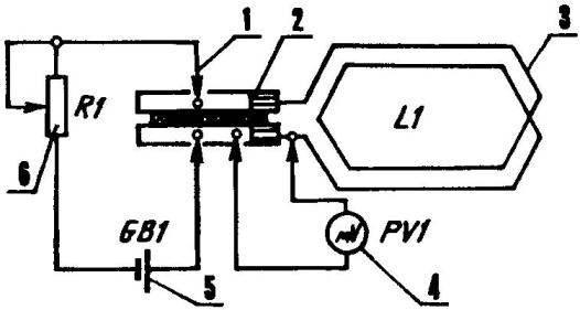 Рис. 2. Схема проверки электрического соединения пластин коллектора с петлевыми обмотками ротора