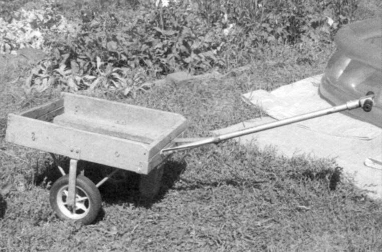 Садовая тележка в сборе