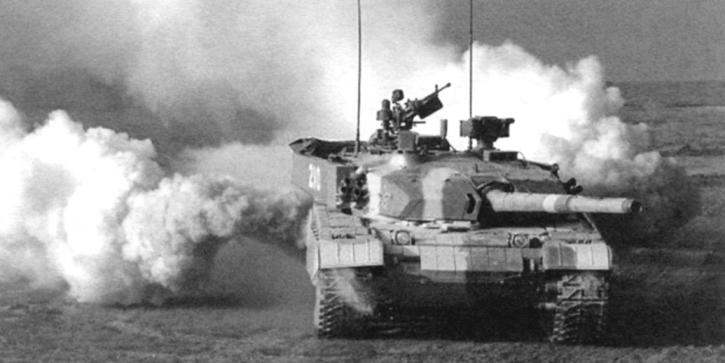 Выход танка в атаку