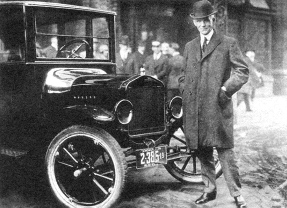 Генри Форд у 10-миллионного автомобиля