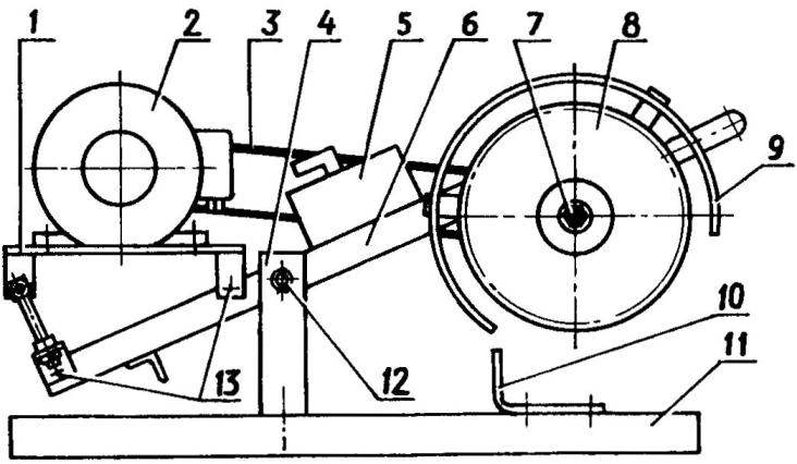Малогабаритная балансирная циркульная электропила