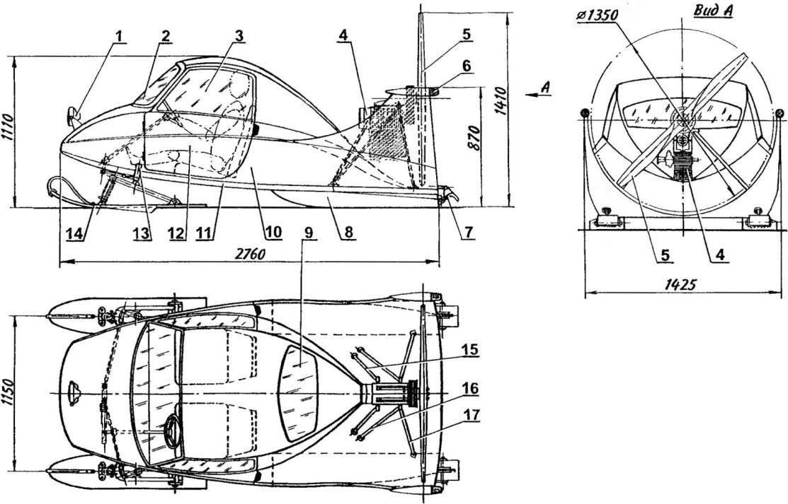 Twin snowmobile engine RMZ-640