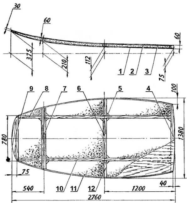 Рама-панель аэросаней