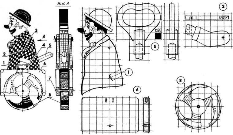 Динамичная игрушка «Клоун»