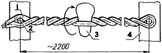 Технология изготовления жгута для самодельного микрокабеля (количество жил условно занижено до двух)