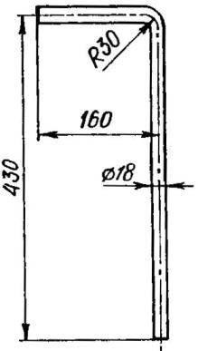 Тормозной штырь (Ст3, пруток d18)