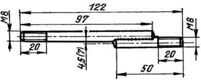 Специальная шпилька крепления цилиндров «Восхода» к картеру «Привета»