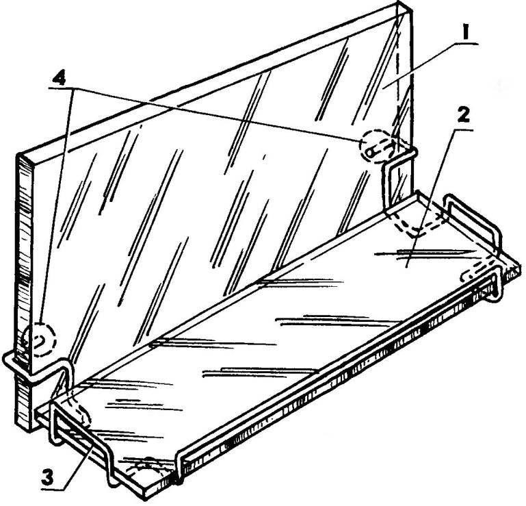 Проволочный каркас для стеклянной полочки