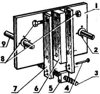 Стыковка подвижной плиты с механизмом перемещения