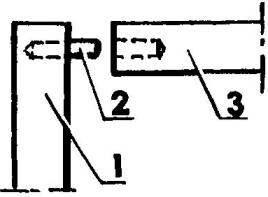 Узел соединения вертикальных и горизонтальных панелей