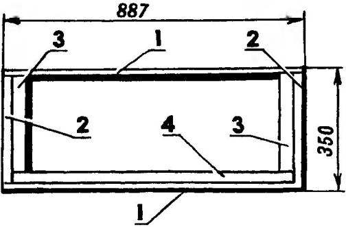 Секция А шкафа в варианте подставки под телевизор
