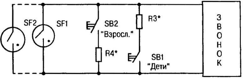 Принципиальная электрическая схема самодельного звонка