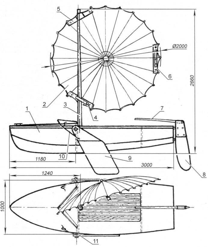 Прогулочный зонт-бот