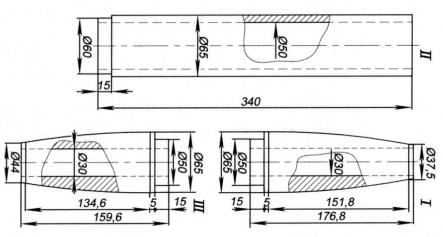 Оправки для изготовления элементов корпуса модели ракеты Р-2