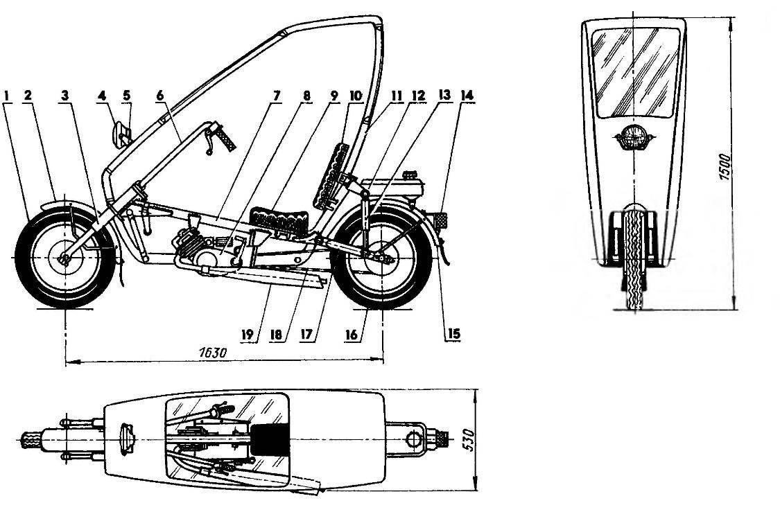 Компоновка скутера