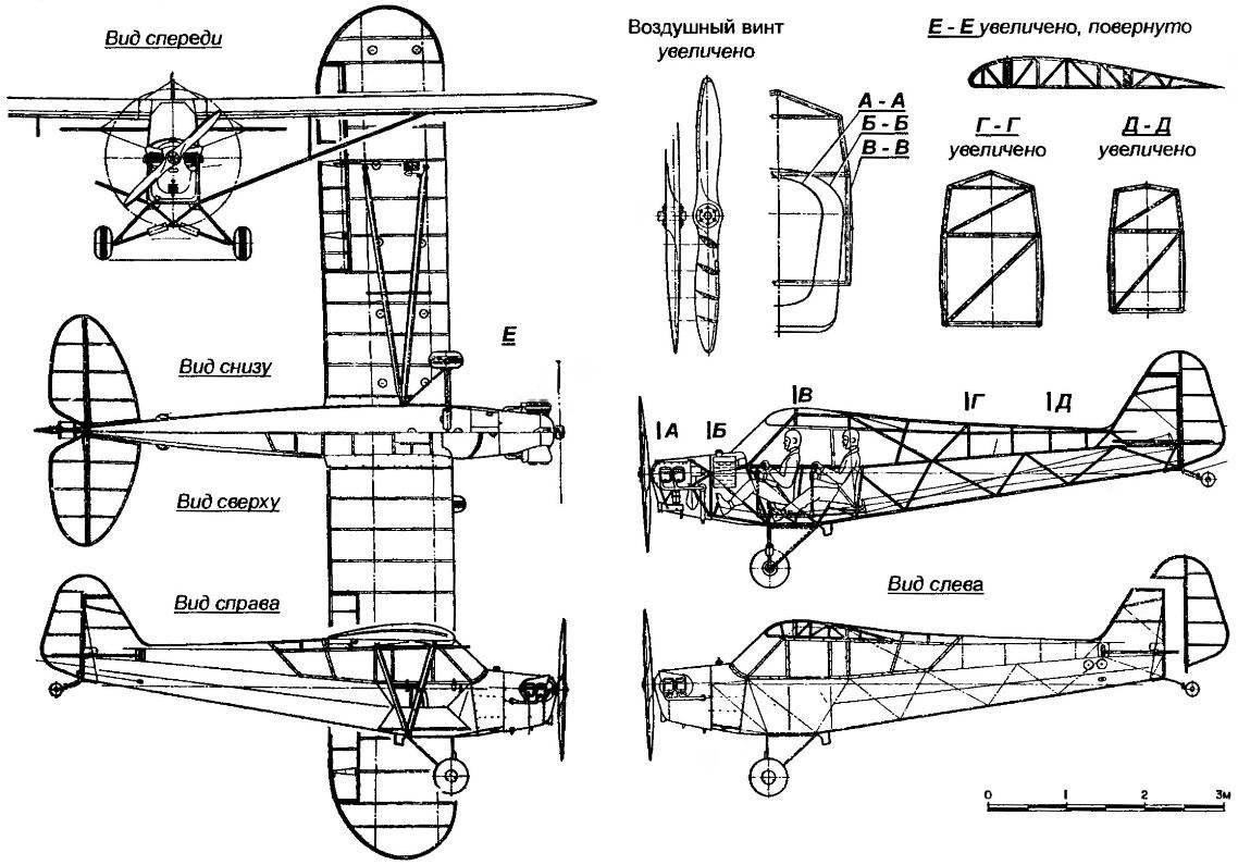 Легкомоторный самолет-высокоплан PIPER CAB