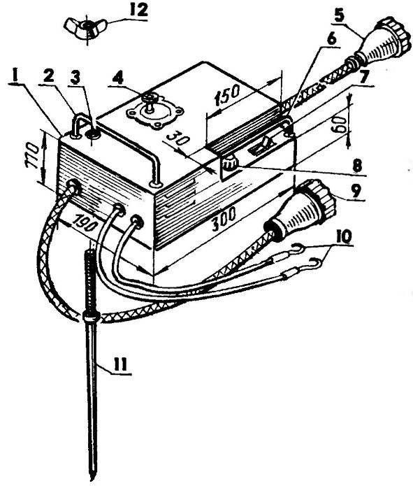 Пульт управления запуском двигателя