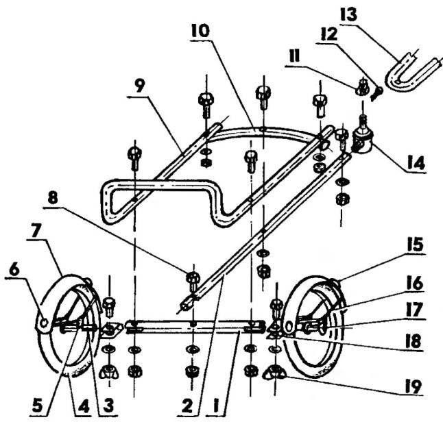 Конструкция велоприцепа