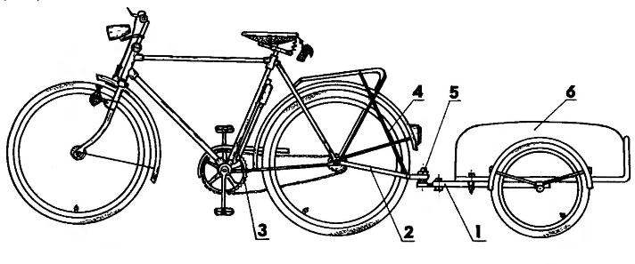 Общий вид велосипеда с прицепом