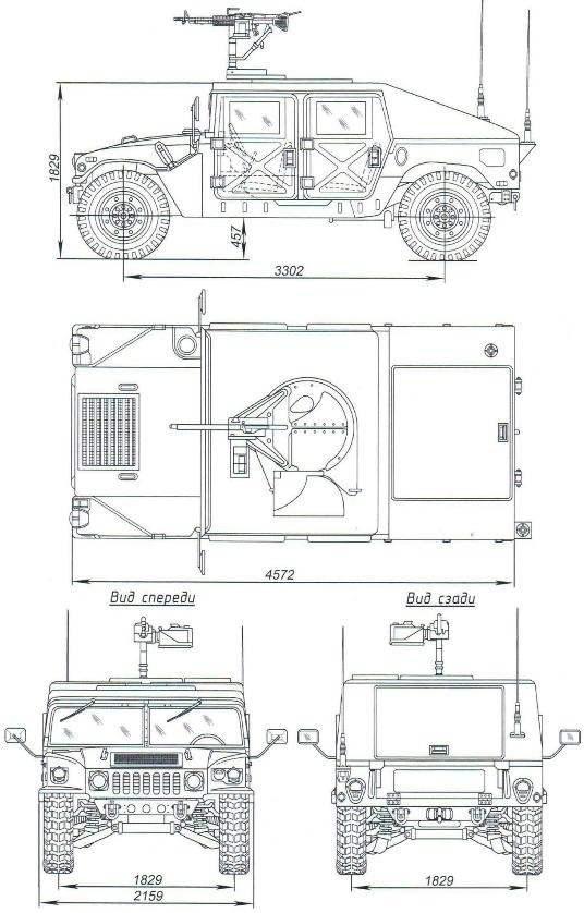 Бронеавтомобиль M1025 с 7,62-мм пулемётом M-60