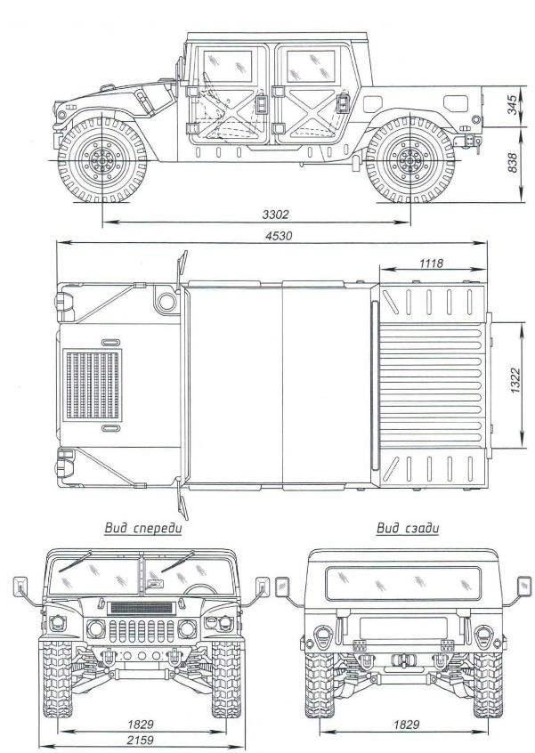 Грузовой «Хаммер» с «жёсткой» кабиной М1165