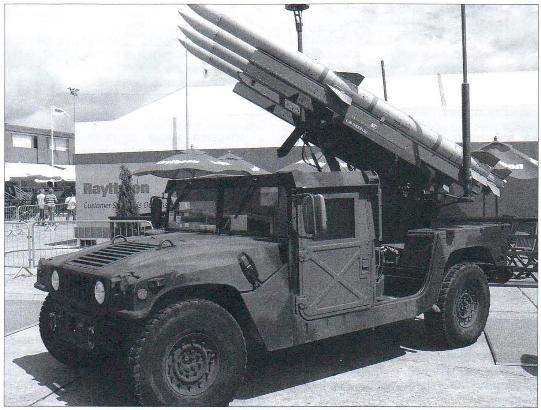 Anti-aircraft missile system RITA-120C firm Raytheon in the exhibition of arms in Paris, 2007