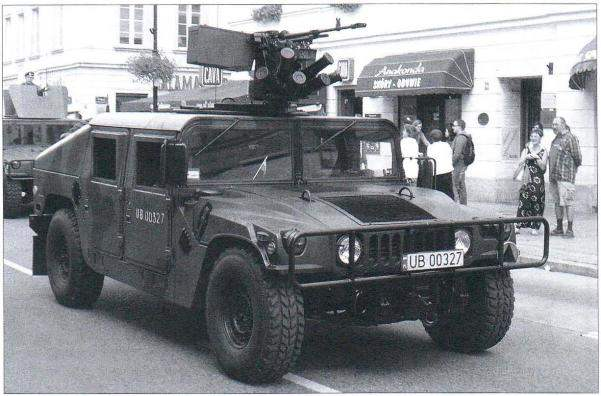 Polish M1151 on the street in Warsaw