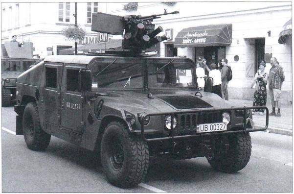 Польский M1151 на улице Варшавы