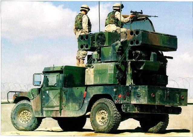 """Зенитный комплекс """"Авенджер"""" на машине M1037 с ракетами """"Стингер"""""""