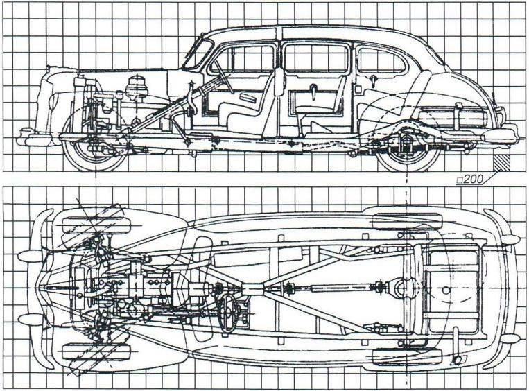 Компоновка автомобиля ЗиС-110
