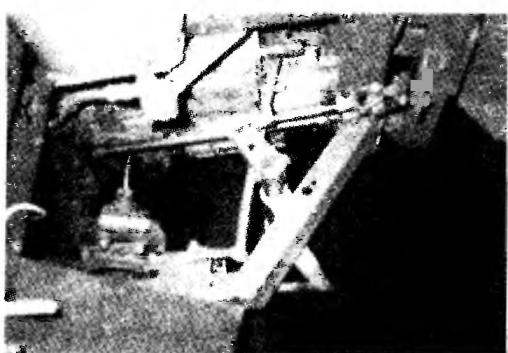 Механизм «перелома» рамы, полуось с зластичной резиновой муфтой и тормозной диск