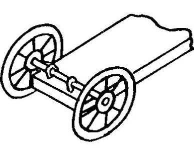 Колеса на конце снденья для транспортировки плота