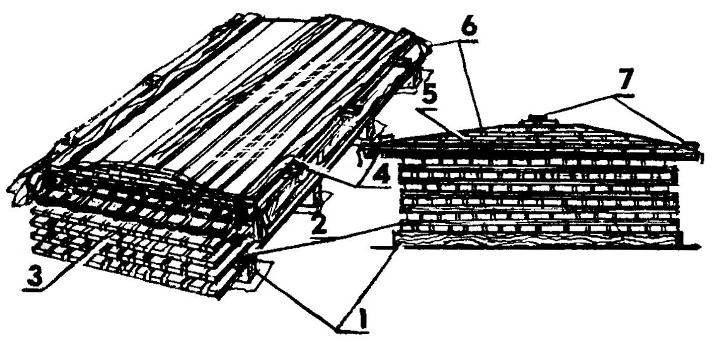 Pile timber h sawn timber