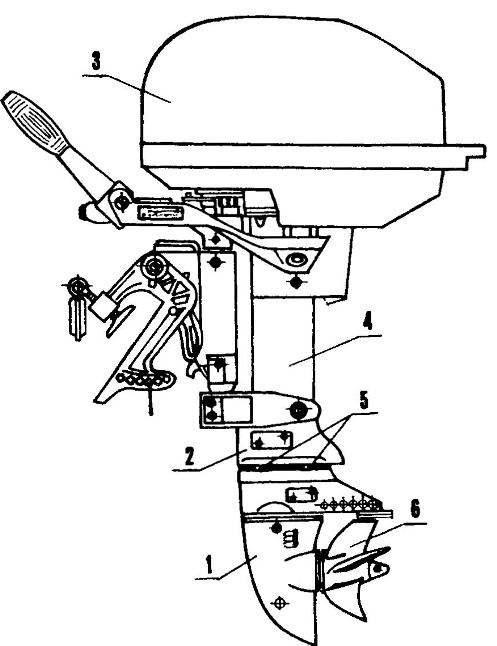 Подвесной лодочный мотор «Москва-30» с редукгором от «Привета-22»