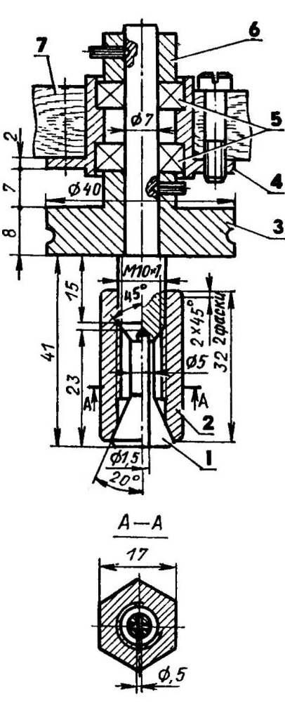 Шпиндельный узел второю варианта компоновки мини-станка