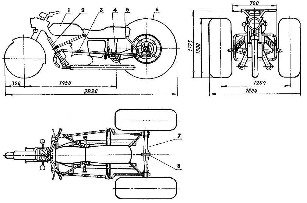 Компоновка трицикла-пневмохода