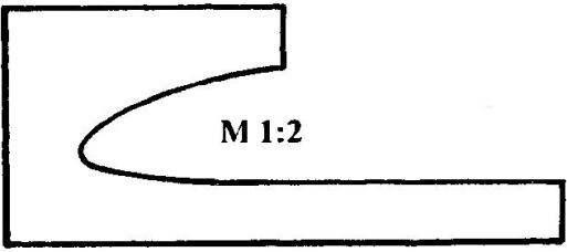 Шаблон носка профиля лопасти