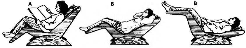 Варианты положения кресла