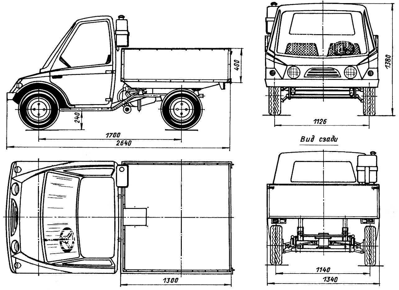 Легкий мотогрузовик «Компакт-200»