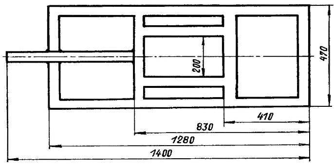 Рама мотоблока (стальная труба 60x50x2)
