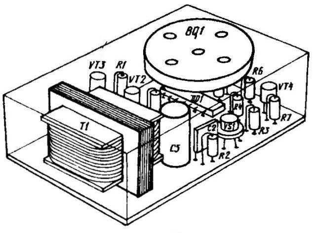 Вариант компоновки самодельного сигнализатора