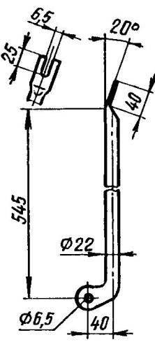 Подкос тележки (алюминиевая труба 22x2, 2 шт.)