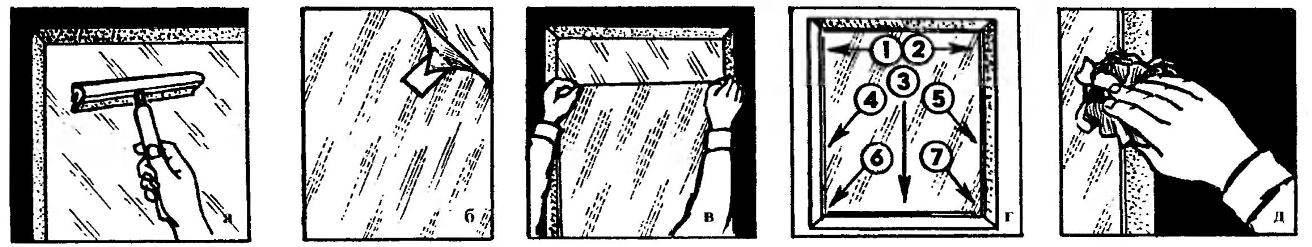 Последовательность наклейки защитной пленки на стекло