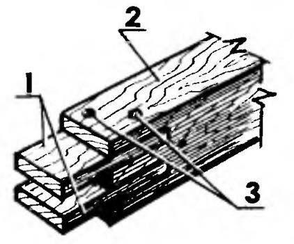 Замена внутренних шипов бруска обвязки