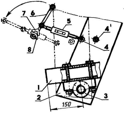 Механизм клиноремениого сцепления и натяжения ремня