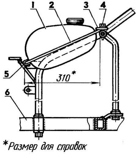 Крепление топливного бака: