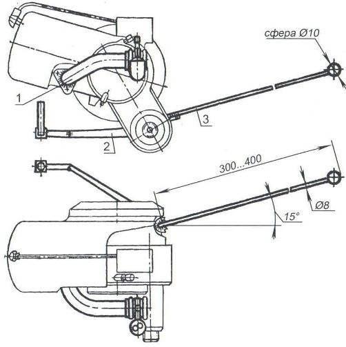 Рис. 3. Схема доработки двигателя