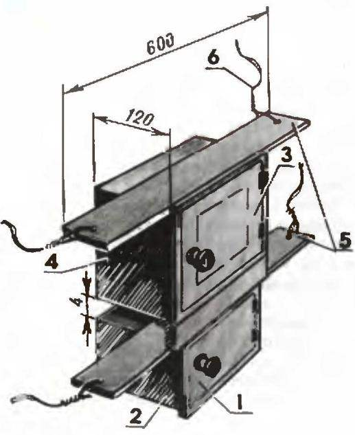 Рис. 2. Коробка поддувалка к топке