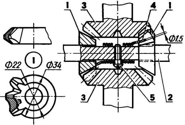 Доработанный дифференциал главной передачи переднего моста