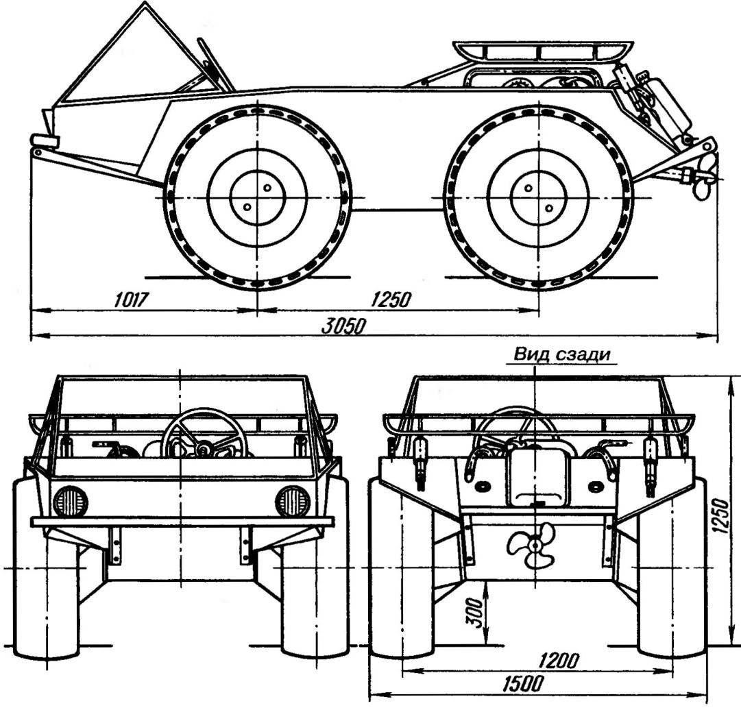 Amphibious all-terrain vehicle
